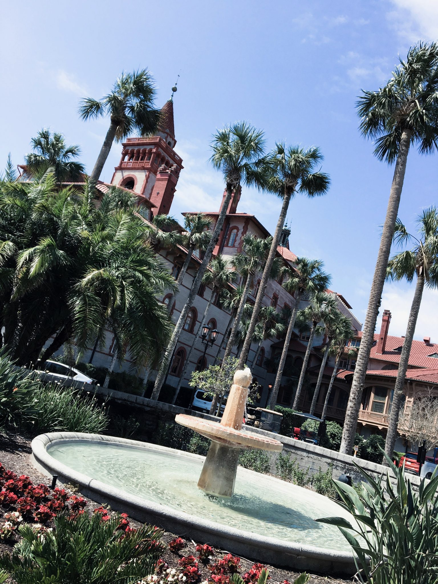 Saint Augustine Florida Flager College with fountain