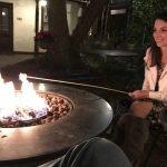 St. Francis Inn B&B with brunette girl roasting marshmallows