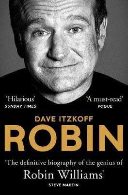 Robin by David Itzkoff book cover with portrait photograph of Robin Williams