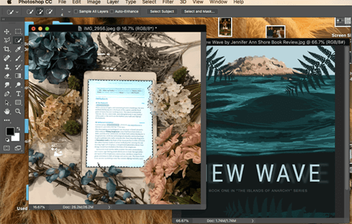 Photoshop Tutorial for book blogging Quick Selection Tool