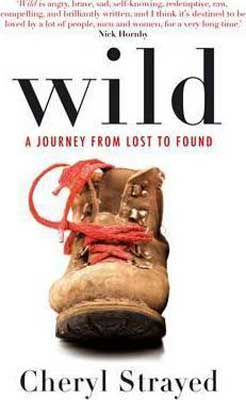 Wild by Cheryl Strayed book cover with brown boot with red laces