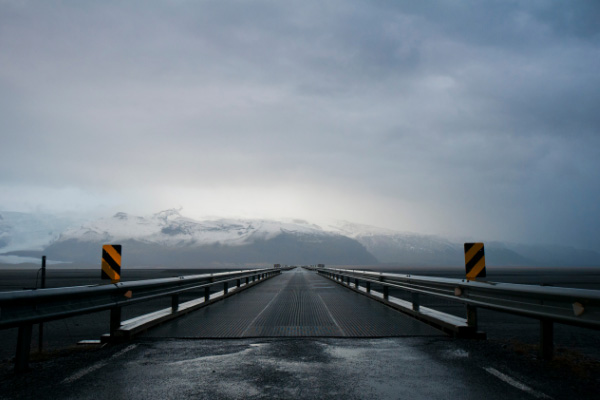 Single Lane Bridge Driving In Iceland