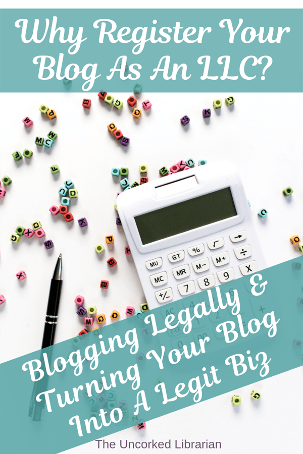 Why Register Your Blog As An LLC Pinterest Pin