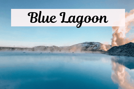Outside of the Blue Lagoon In Iceland with blue water
