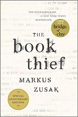 The Book Thief Markus Zusak white Book Cover