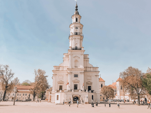 7 Day Baltics Itinerary Kaunas Town Hall Square