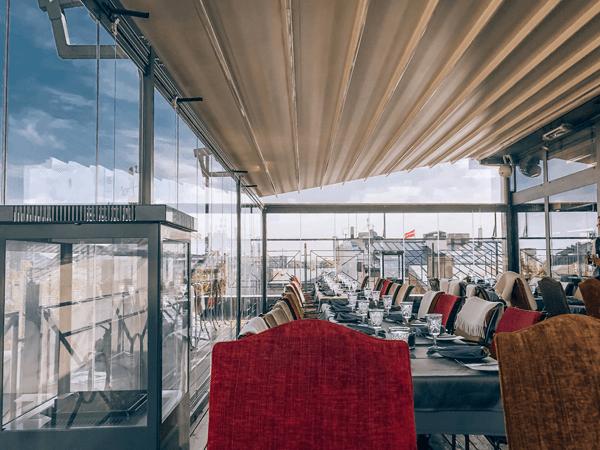 Baltic Bookish Places Gutenberg's Terrace Restaurant