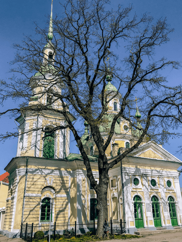 Baltics Travel St. Catherine's Church in Parnu Estonia