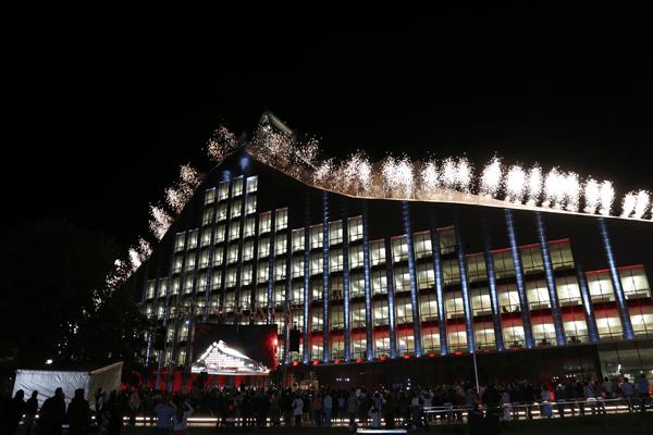 NLL in Riga Latvia at night
