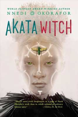 Akata Witch by Nnedi Okorafor book cover with albino woman's face