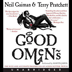 Best Audiobooks for Road Trips-Good Omens by Terry Pratchett and Neil Gaiman