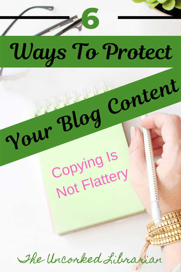 Copying Blog Content and Copyright Infringement Blog Pin