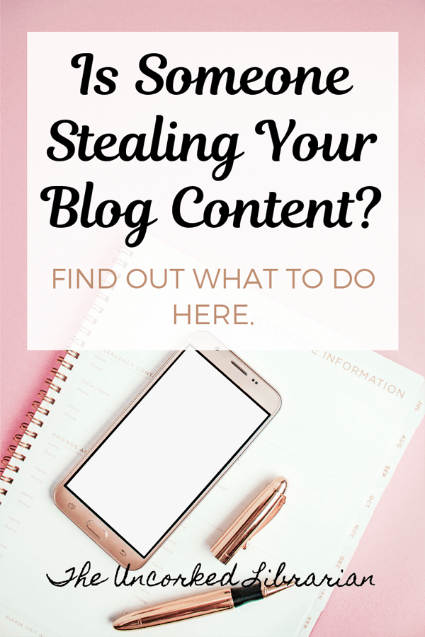 Copying and Stealing Blog Content From Other Bloggers Blog Pin