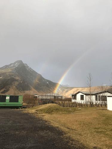 Southern Iceland Waterfalls Skogafoss Rainbows