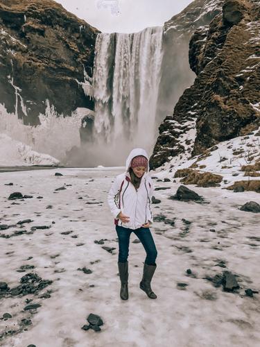 Southern Iceland waterfall Skogafoss