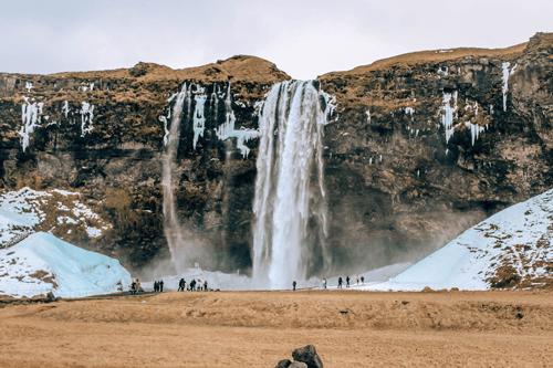 Southern Iceland waterfalls Seljalandsfoss