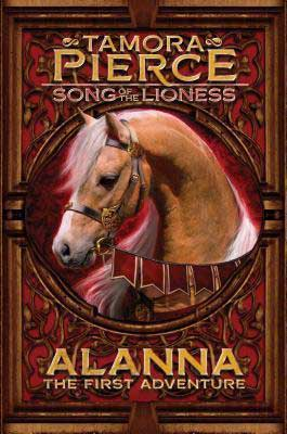 Alanna by Tamora Pierce book cover with light-brown horse