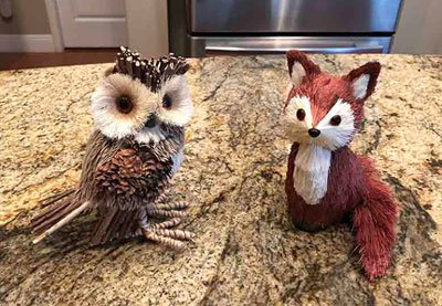 How to start a bookstagram props with owl and fox made of straw from the craft store