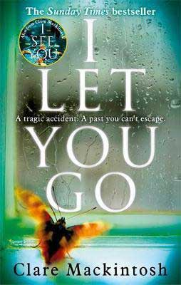 Life-Changing Beach Reads, I Let You Go by Clare Mackintosh book cover with insect looking in a window covered with rain