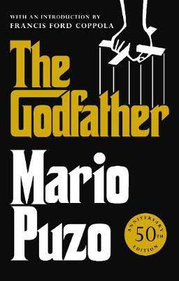 Classic Best Beach Reads Of All Time, The Godfather by Mario Puzo book cover with hand holding puppet strings