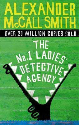 The No. 1 Ladies' Detective Agency by Alexander McCall Smith green book cover with alligator eating the title of the book