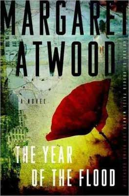 The Year of the Flood by Margaret Atwood book cover with obscured buildings