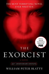 Best Horror Books Ever The Exorcist by William Peter Blatty book cover with red glowing face of a woman