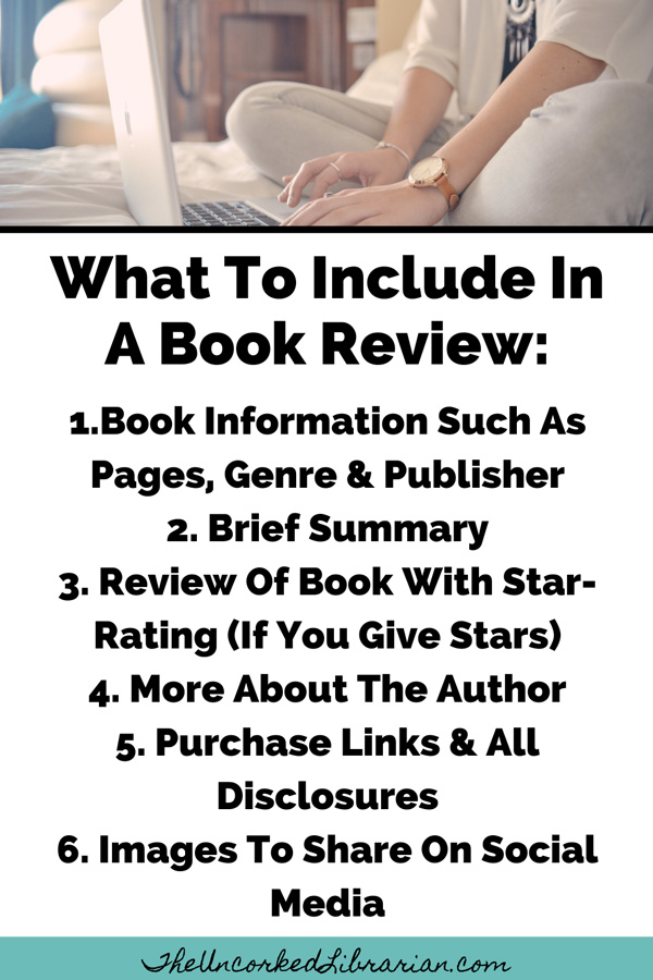Book Blogging 101 How To Write A Book Review Pinterest Pin with book information, summary, review, more about the author, purchase links, social media sharing images