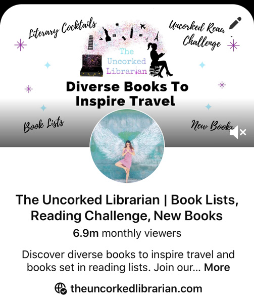 Book Blogging With Pinterest Screenshot of The Uncorked Librarian Pinterest Account showing 6.9 million monthly views