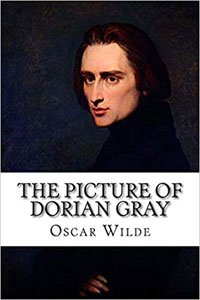 Creepy Classics The Picture of Dorian Gray by Oscar Wilde book cover with Dorian Gray portrait, a white brunette man