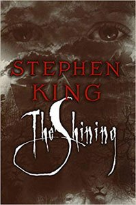 Seriously spooky books for adults The Shining By Stephen King gray book cover with eyes