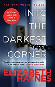 Spooky Books Into The Darkest Corner by Elizabeth Haynes book cover with telephone jack