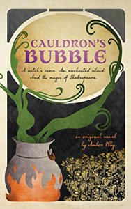 Spooky books for adults and teens Cauldron's Bubble book cover with cauldron on a fire