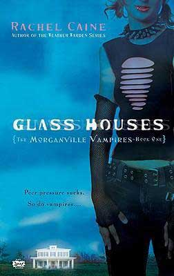Glass Houses by Rachel Caine book cover with woman wearing jeans and a spiked collar