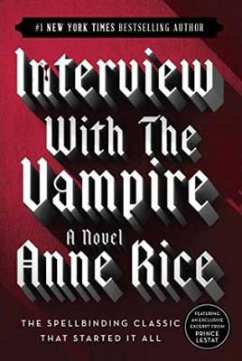 Interview With A Vampire by Anne Rice red book cover