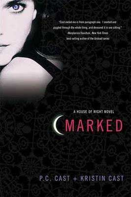 Marked by P.C. Cast book cover with picture of young vampire girl