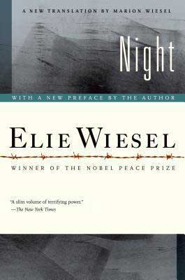 Holocaust books for high school Night by Elie Wiesel book cover with barbed wire fence