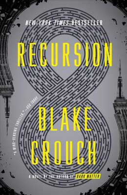 Books gifts for dads, Recursion by Blake Crouch gray book cover with infinity symbol