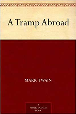 A Tramp Abroad by Mark Twain classic red and beige book cover