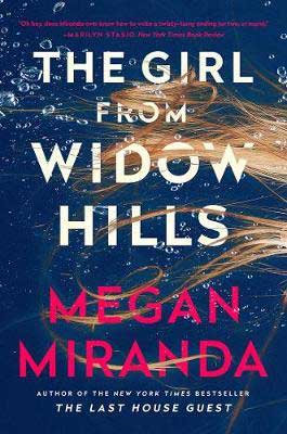 2020 scary books for adults, The Girl From Widow Hills Megan Miranda book cover with golden hair floating in blue water
