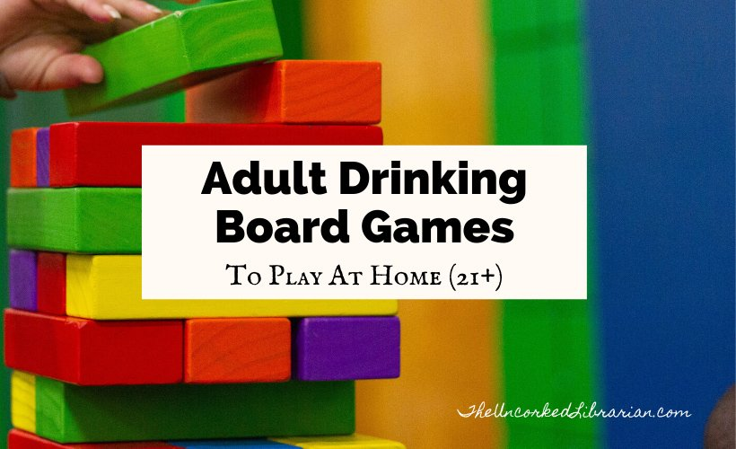Best Adult Drinking Board Games cover with rainbow Jenga