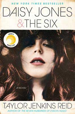 Popular summer reads, Daisy Jones & The Six by Taylor Jenkins Reid book cover with redish-hair and pale woman's face