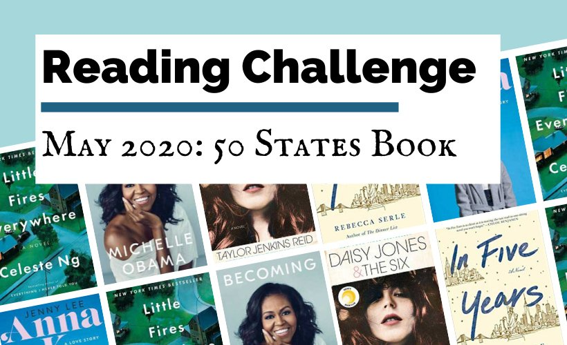 May 2020 Book Discussion Reading Challenge blog post cover