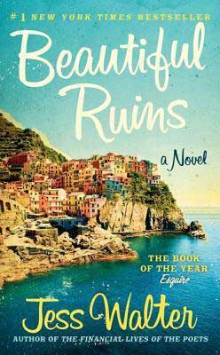 Beautiful Ruins by Jess Walter book cover with Italian coastal town
