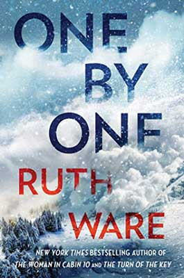 Most-Anticipated Fall 2020 thrillers, One by One by Ruth Ware book cover with snow cloud