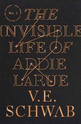 The Invisible Life of Addie Larue by V.E. Schwab black book cover