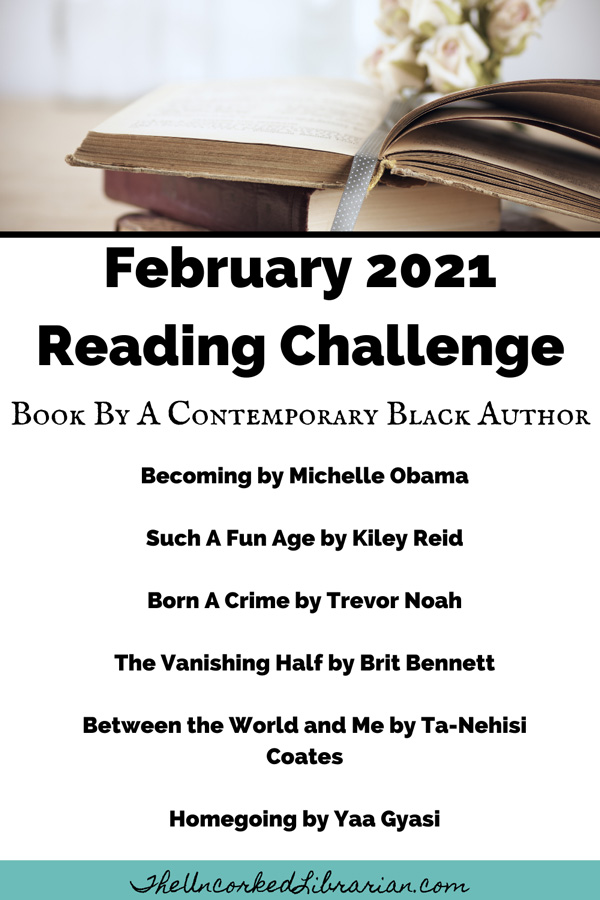 February 2021 Reading Challenge Book Suggestions