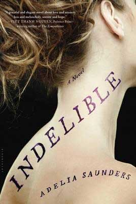 Baltic Books Set In Lithuania Indelible by Adelia Saunders book cover with white brunette woman's neck