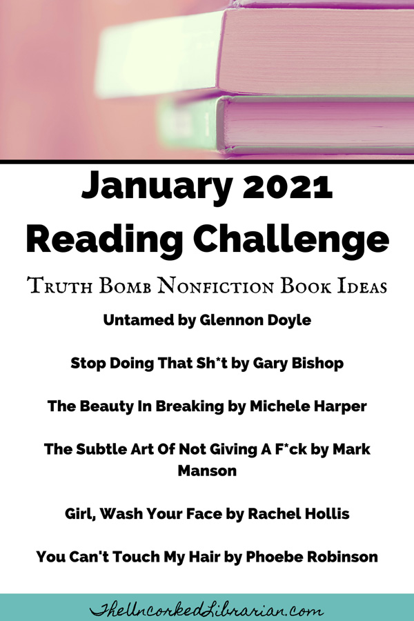 Uncorked January Reading Challenge 2021 Book Suggestions