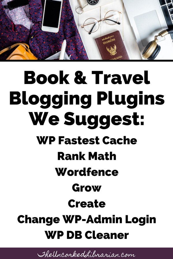 Blogging Resources List Of Plugins To Use Pinterest Pin with WP Fastest Cache Rank Math, Wordfence, Grow by MV, Create by MV, Change WP-Admin Login, WP DB Cleaner